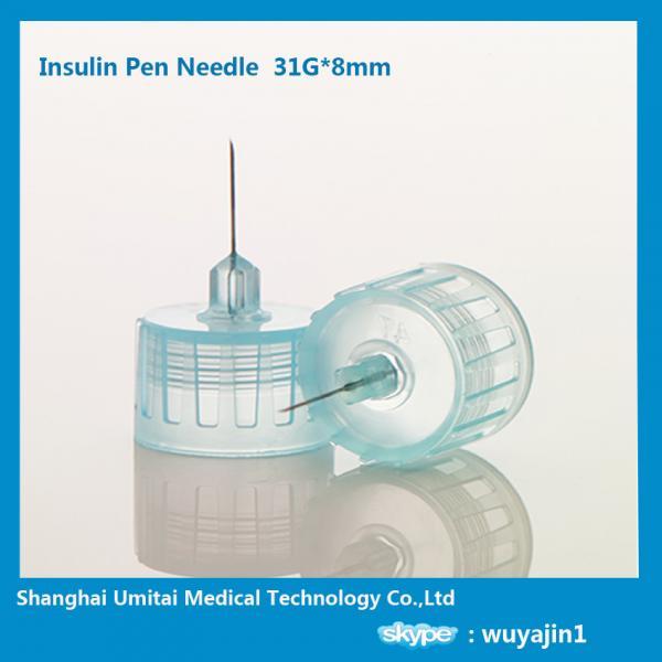 Quality 31G*8mm Diabetic Insulin Pen Needles For Novolog Flexpen OEM / ODM Available for sale