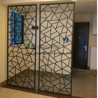 China Manufacturers selling Fashion creative iron Partition wall screen and floor door flower entrance window frame wholesale