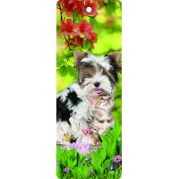 Buy cheap Custom Available Lovely Dog 3d Lenticular Bookmark With Tassel For Gifts And Souvenirs from wholesalers