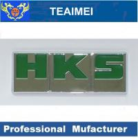 China HKS Letter Custom Automotive Emblems Auto Body Sticker With 3M Adhesive wholesale