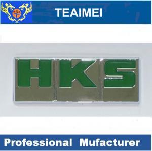 China HKS Letter Custom Automotive Emblems Auto Body Sticker With 3M Adhesive wholesale