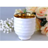 China Votive Personalized Candle Holder Ceramic , White Porcelain Candle Holder wholesale
