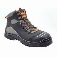 China Working Safety Shoes with Nubuck leather Upper and PU Injection, Suitable for Automobile wholesale