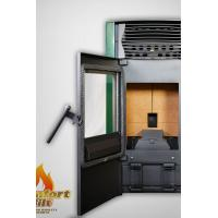 Cast Iron Pellet Stove / Programmable Pellet Stove With Water Circulation Heating