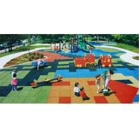 China Outdoor Playground Rubber Mats / Poured Rubber Playground Surface wholesale