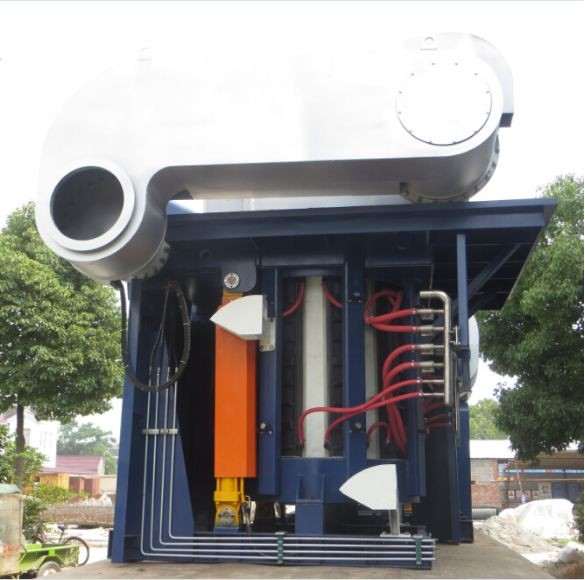 Quality Medium Frequency Hydraulic Steel shell furnace KGPS-4500KW/6000kg for sale