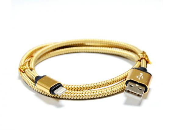 Quality Metallic 2A MFI Certified Cable For Apple , Lightning iPhone MFI Charging Cable for sale