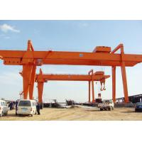 China Heavy Duty Double Girder Gantry Crane Electric For Loading Unloading High Strength wholesale