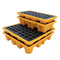 China Wholesale Customizable Containment Liquid Detachable 1300*1300*300 4 drum Spill Pallet For Moving wholesale
