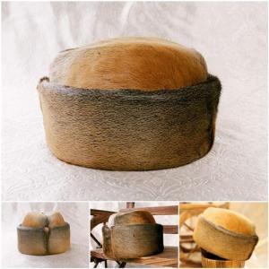 China Mustela Macrodon Fur Hats Sealskin Hats Fur Hats Fur Hat Mink Fur Cap Fur Headgear Gold wholesale