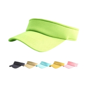 China Adults Empty Plastic Ladies Sun Visor Hat Velcro Back Closure wholesale