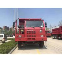 China Red Color Heavy Mining Dump Truck 6*4 / Manual Transmission Type 30 Tons Tipper Truck wholesale