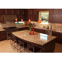 China Luxury Glossy Custom Granite Countertops Table / Stone Kitchen Worktops on sale