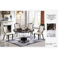 China club 8 persons round dining marble table with Lazy Susan wholesale