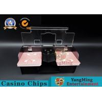 China Casino Exclusive Deluxe Automatic 2 Deck Playing Card Shuffler Double Deluxe wholesale