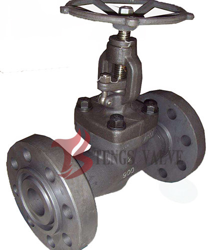 Quality Plug Disc Dn50 Industrial Globe Valve , Flanged RTJ End Carbon Steel Globe Valve for sale