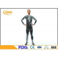China Clear Plastic PE Disposable Sauna Suit sweat body suit  for Weight Loss / Exercise wholesale