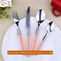 China 18/0 Mirror Polish ABS/PS Duotone Plastic Handle Cutlery Set on sale