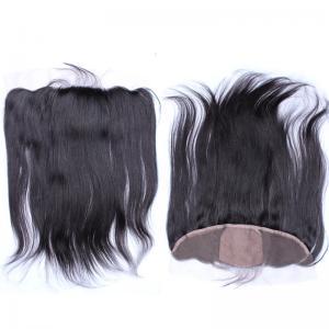 Buy cheap Los frontales bajos de seda rectos brasileños negros del cordón con el pelo del bebé liberan la parte from wholesalers