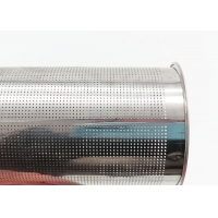 China 220 Micron 0.5mm Thickness PerforatedMetalPipe , Water Filter Elements For Coffee wholesale