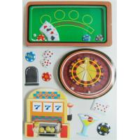 China DIY Card Shaker Vintage Toy Stickers Layered 3D With Accessories 2.0 Mm Thick wholesale