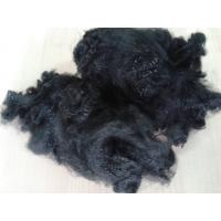 China 3dx51mm close virgin polyester staple fiber in jet black color for non woven wholesale