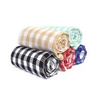 China Kitchen Cotton Yarn Dyed Checks Pattern Household Waffle Tea Towel Set wholesale