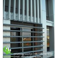 China Outdoor	Aluminum Airfoil Louvers , Exterior Window Shade Louvers Akzo Nobel Coating wholesale