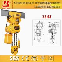 China Electric chain hoist/small electric pulley hoist/electric 7.5t trible chain hoist wholesale