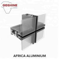 China Aluminum profile manufacturer curtain walling contractors system profile for Libya on sale
