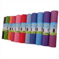 China Excellent Sticky PVC Yoga Mat Personalized , Custom Printed Exercise Floor Mats wholesale