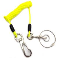 Buy cheap Security Retractable Wire Cable Spring Tool  Lanyard With Carabiner And Key Chain from wholesalers