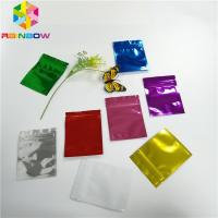 China Three Side Seal Foil Pouch Packaging Metalized Resealable Zipper For Tea / Milk Powder wholesale