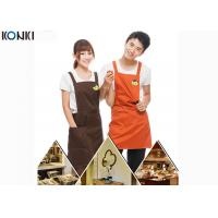 China Personalised Kitchen Custom Cooking Aprons Embroidery With Twill Fabric wholesale