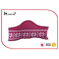 China Pink Neck Cowl Scarf With 100% Acrylic Lining , Cashmere Snood Scarf wholesale