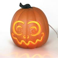 China 2019 Halloween toy plastic Jack-o-lantern with light,Decor for halloween,Orange led Jack-o-lantern wholesale