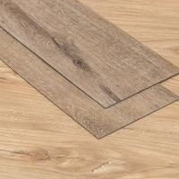 China Customized LVT Plank Flooring , Resilient Spc Pvc Flooring Shallow Walnut Color wholesale