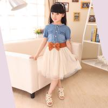 China N-2 summer new arrival children jeans dress,girl jeans dress wholesale