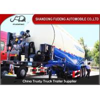 China V / W Shape 80 Ton Bulk Cement Semi TrailerFor Carrying Cement ,  Powder , Silos on sale
