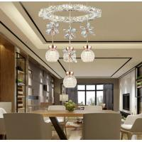 Buy cheap Circle Round Crystal Hanging Lights For Indoor House Lighting Fixtures (WH-AP from wholesalers