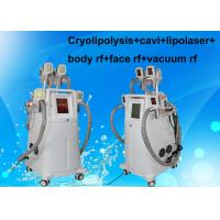 Cryolipolysis+cavi+lipolaser+bodyrf+face rf+vacuum rf slimming machine