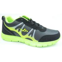 China Black / Green Sport Running Shoes , Summer Safety Men Air Sport Shoes wholesale