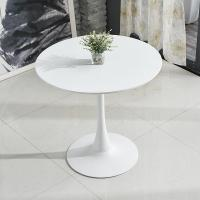 China Small Round Wood Cafe Table Solid Wood Material White Or Black Color wholesale