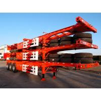 China Tri-axle 40 Feet Shipping Container Trailer Chassis With Container Lock wholesale
