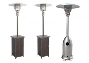 China Outdoor Silver Flexible Propane Gas Electric outdoor natural gas patio heater on sale
