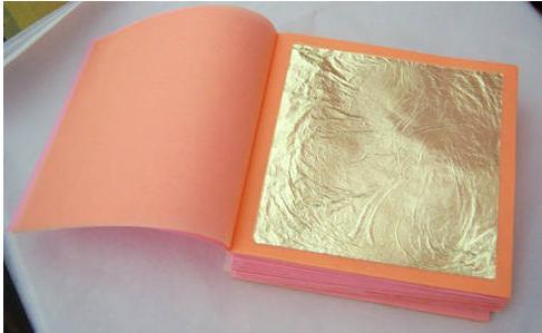Quality genuine gold foil,leaf,booklet 9*9 23k 22k for sale