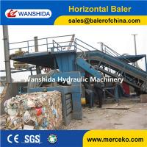 China Y82-125 China horizontal Waste Paper Balers manual belting with feeding conveyor manufacturer on sale
