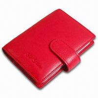 China Card Wallet, Measures 10.5 x 8.5 x 1cm, Various Colors are Available, Made of PVC Leather wholesale