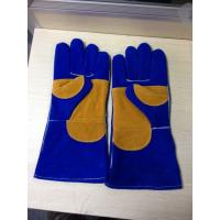 "China Cow Leather Safety Working Gloves 16"" / 14"" Heat Resistant With Double Reinforced Palm wholesale"