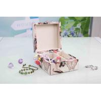 China L13*W13*H7CM Modern Wood Furniture Fabric Covered Jewelry BoxFor Wedding Party wholesale